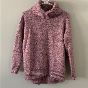 Like new pink marbled cowl neck sweater